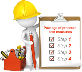 Package of measures for pressure test