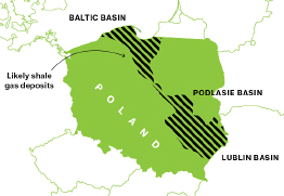 Gas reserves in Poland