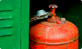 Gas cylinder is metal box