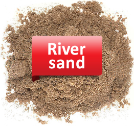 To create a sand lock it is used river sand
